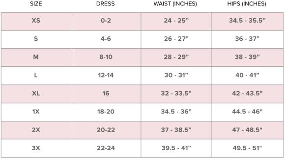 Women Panties Size Chart